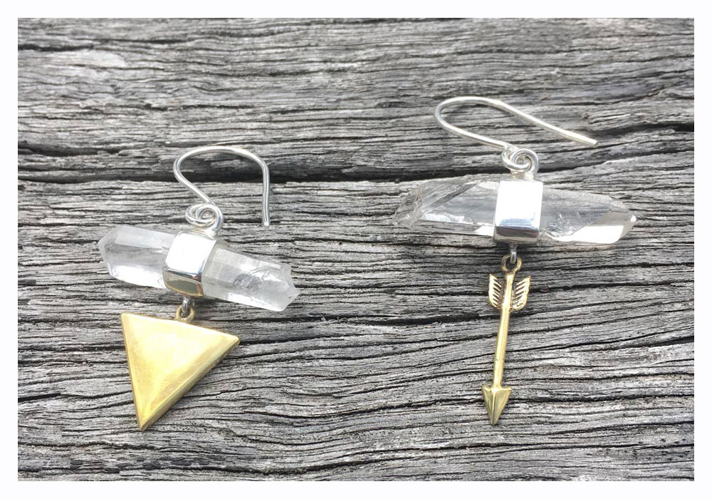 val and stone earrings shop local